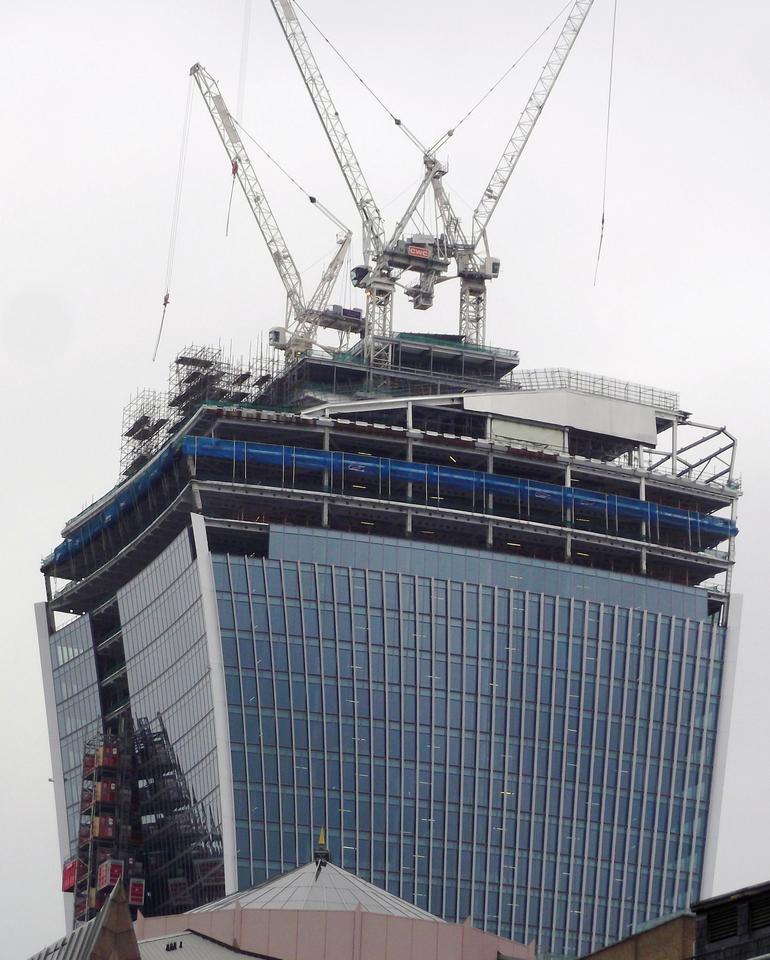 The 20 Fenchurch Street skyscraper, dubbed Walkie-Talkie (Photo: David Holt via Flickr)