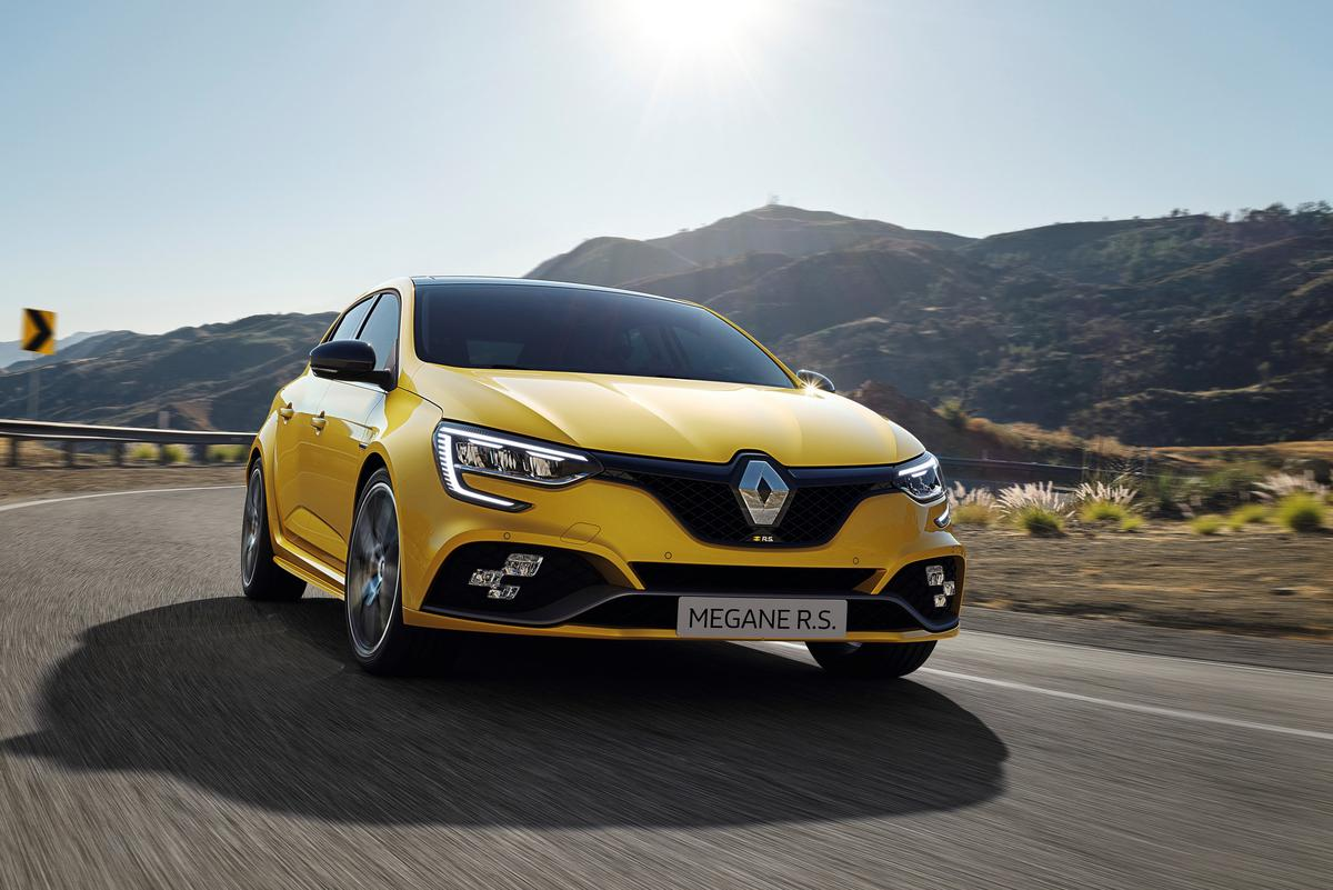 The RS Trophy, resplendent in yellow, now makes 300 horsepower