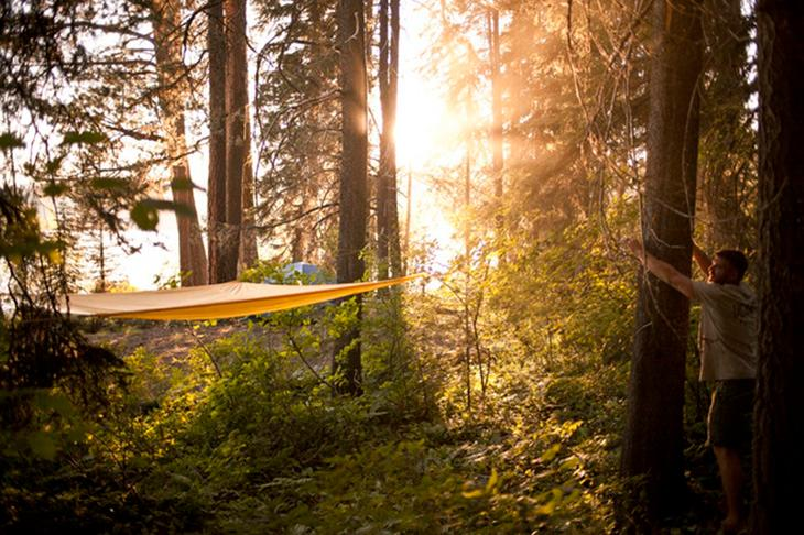Dubbed Treeo, the three-in-one is described as the Swiss Army knife of hammocks by its creators