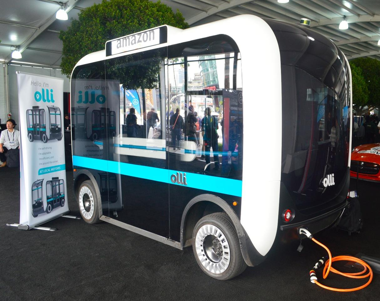Not exactly a truck, but not a car either, the Olli is an autonomous electric bus from Local Motors