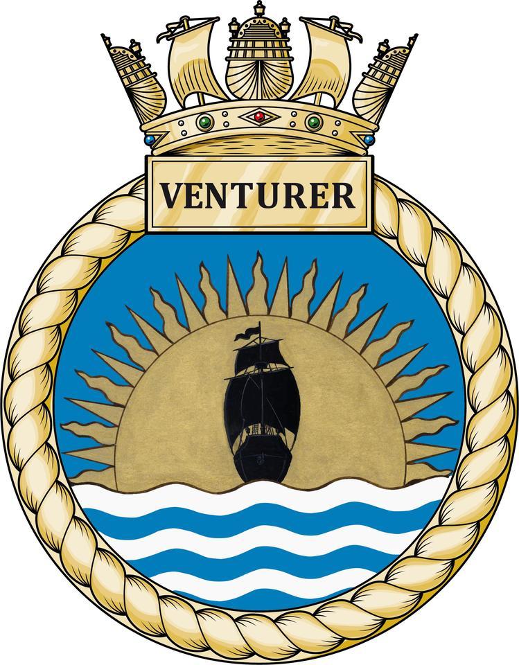 HMS Venturer's badge