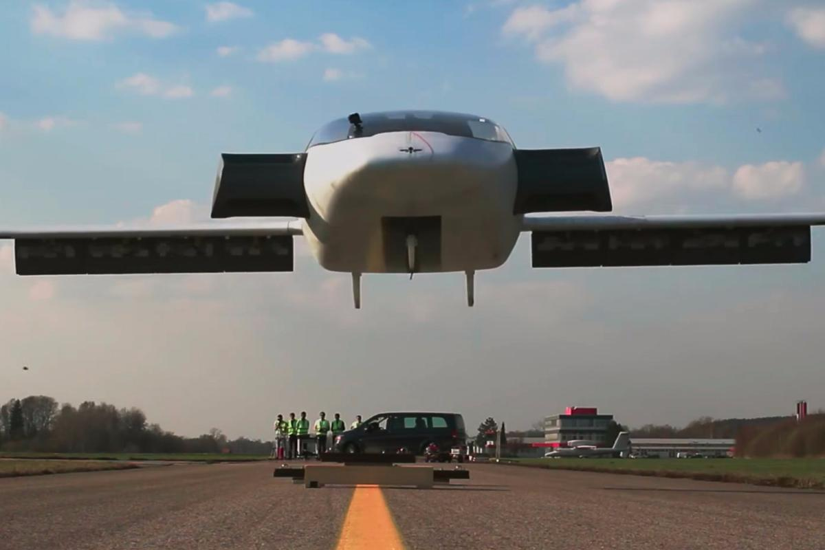 Lilium's two-seater Eagle prototype lifts off for the first time