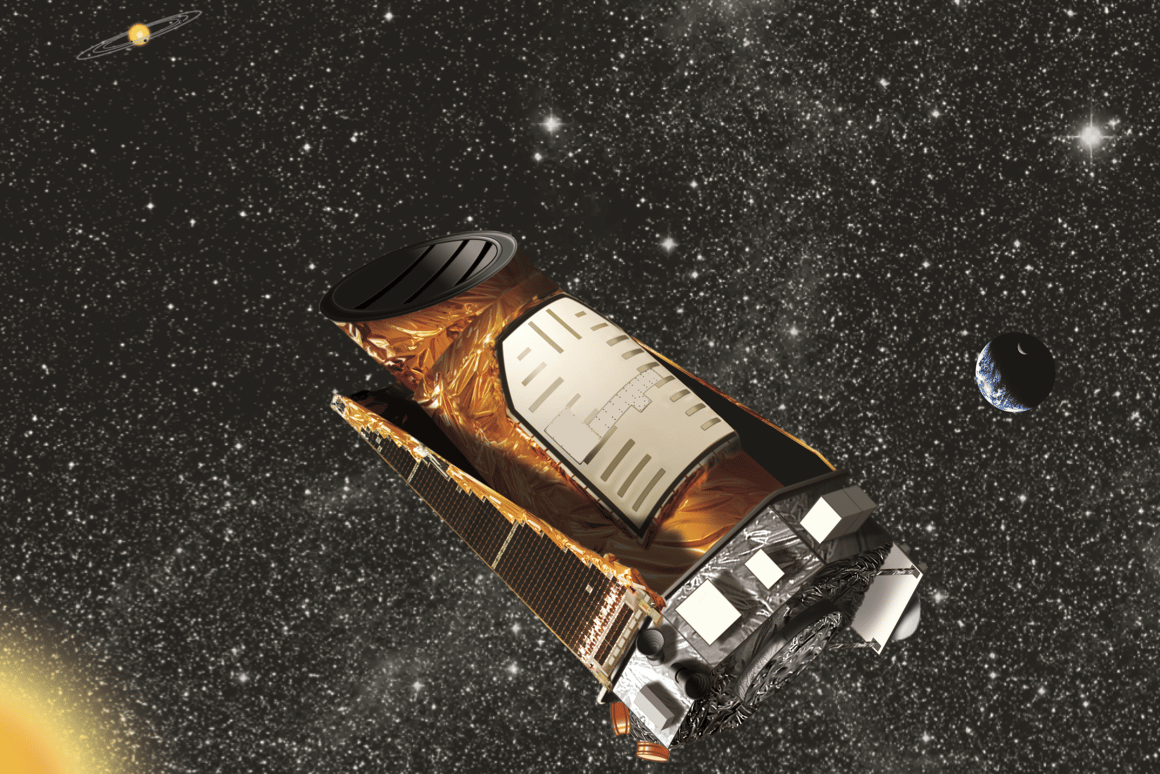 Artist's impression of the Kepler space telescope (Image: NASA)