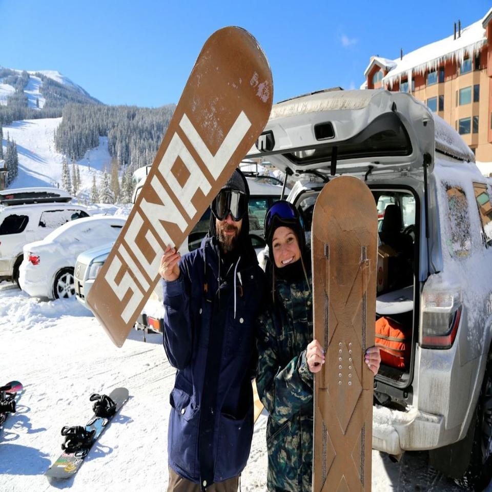 The skateboard was created in partnership with snowboard firm Signal Snowboards