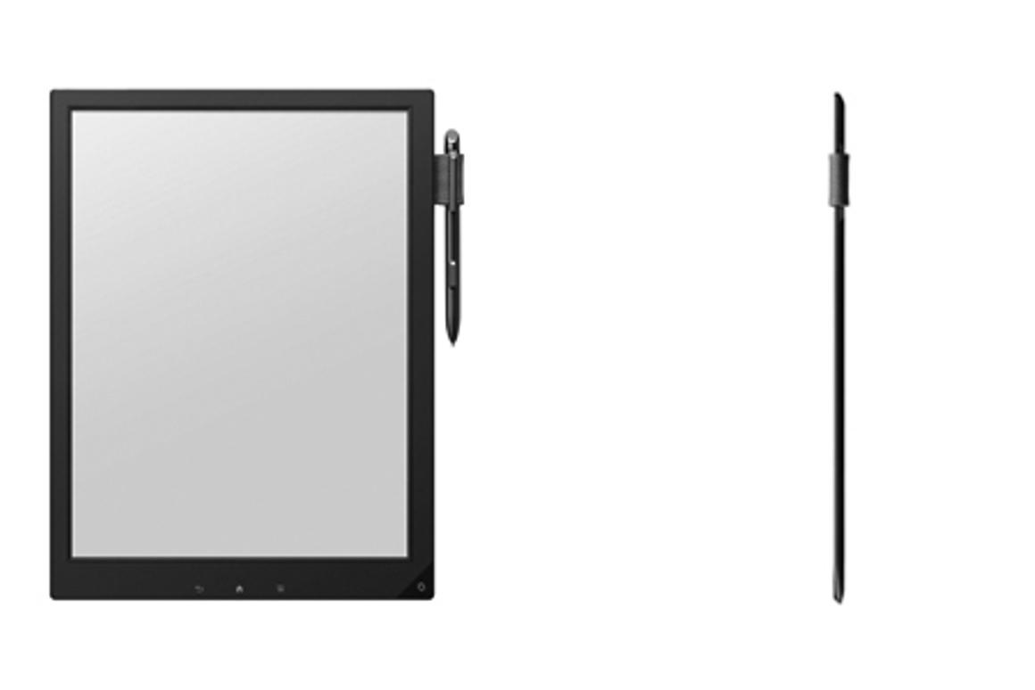 Sony's prototype 13.3-inch e-reader uses a new flexible electronic paper display technology called Mobius