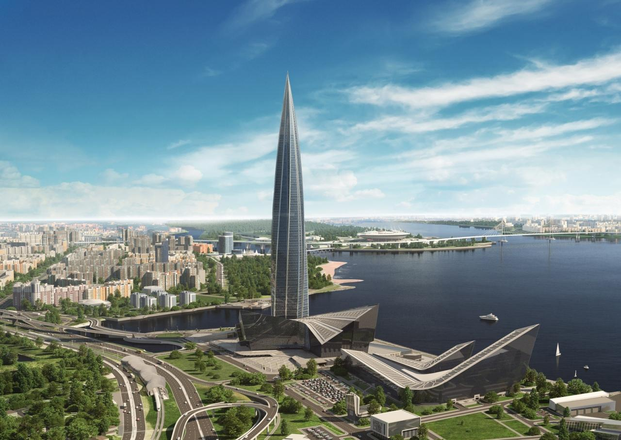 The Lakhta Center's height of 462 m (1,516 ft) makes it significantly larger than other high-profile European towers