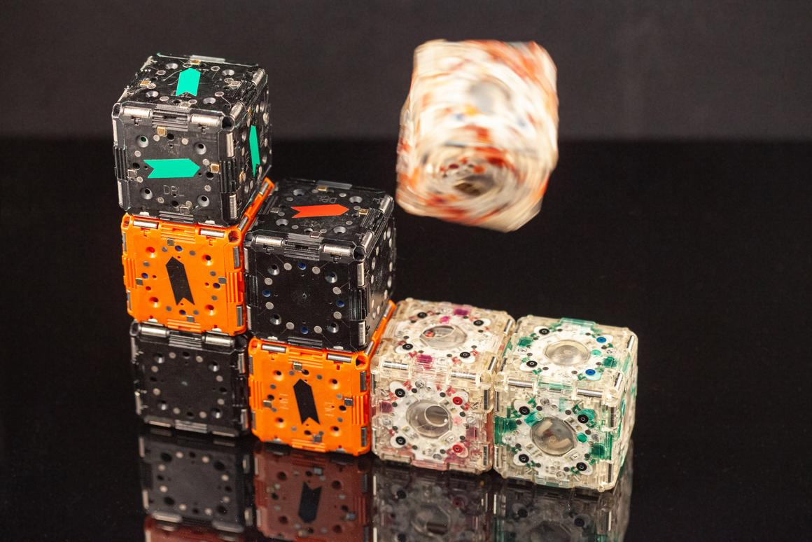 MIT has developed M-Blocks, a set of robotic cubes that can roll, jump, spin, and arrange themselves into different shapes