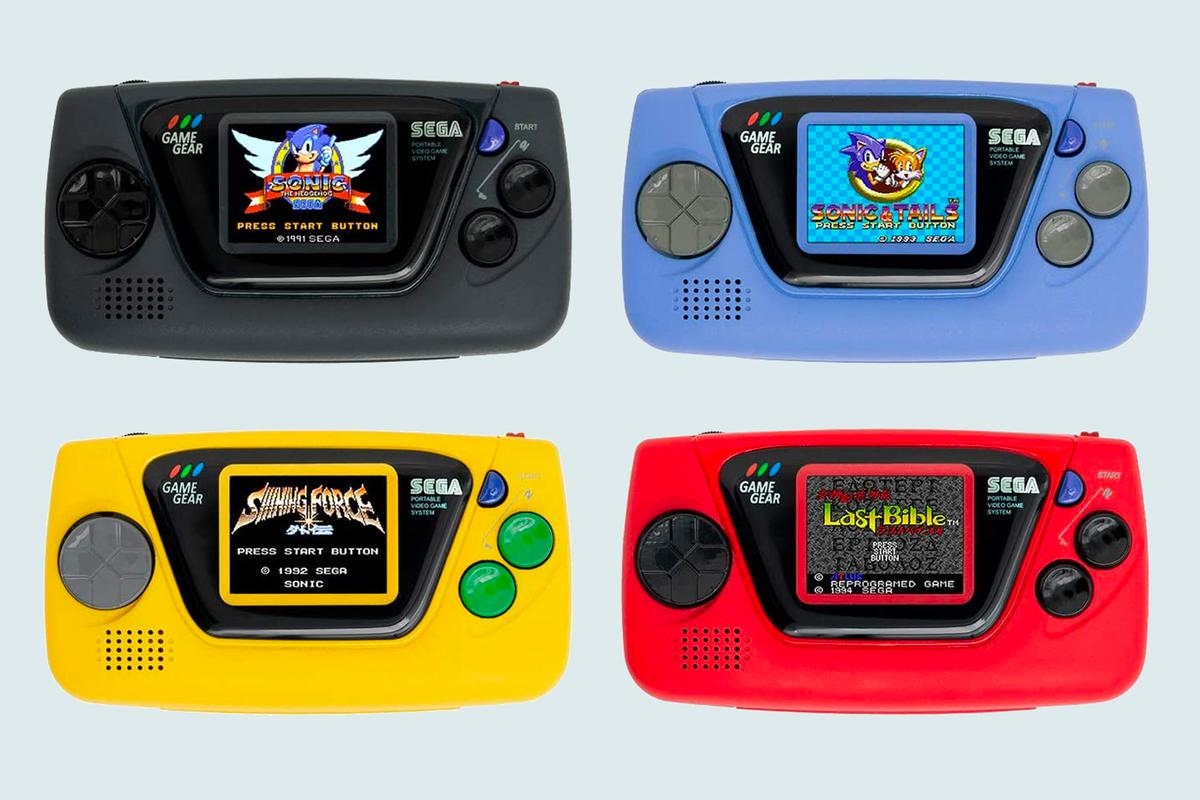 Four colors of the Game Gear Mini will be available