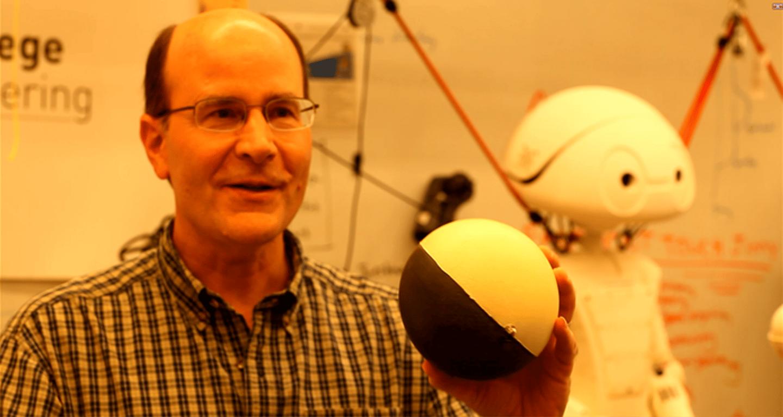 A MegaBall 3 lb paint-filled cannonball