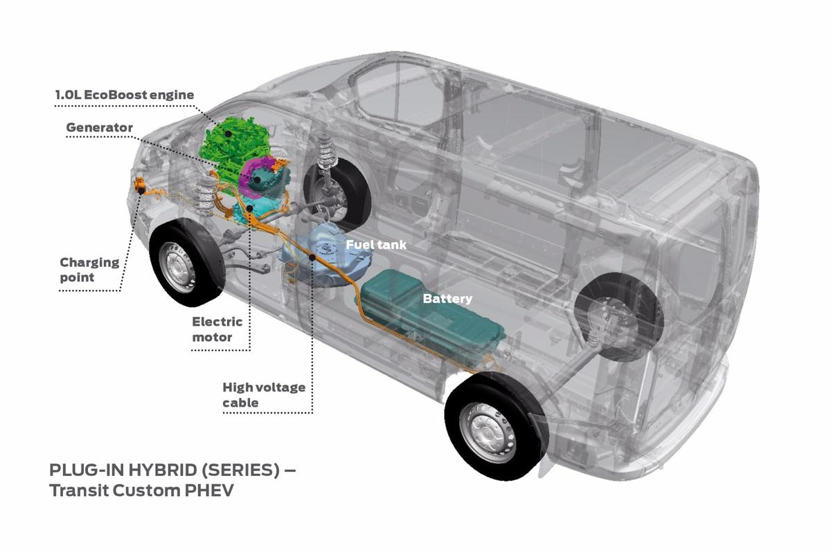 A peek under the skin of the Ford Transit PHEV