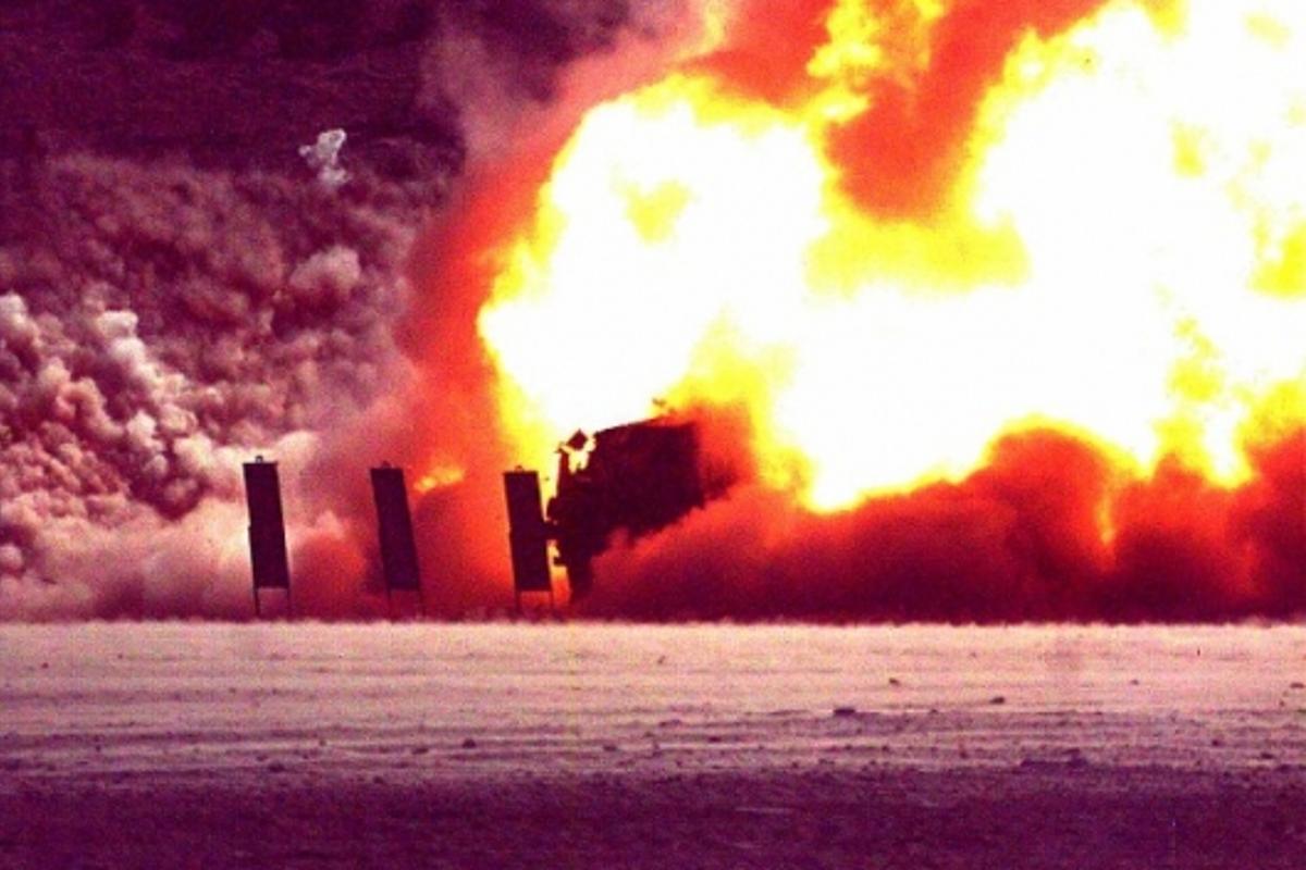 Raytheon test: 200 milliseconds after detonation
