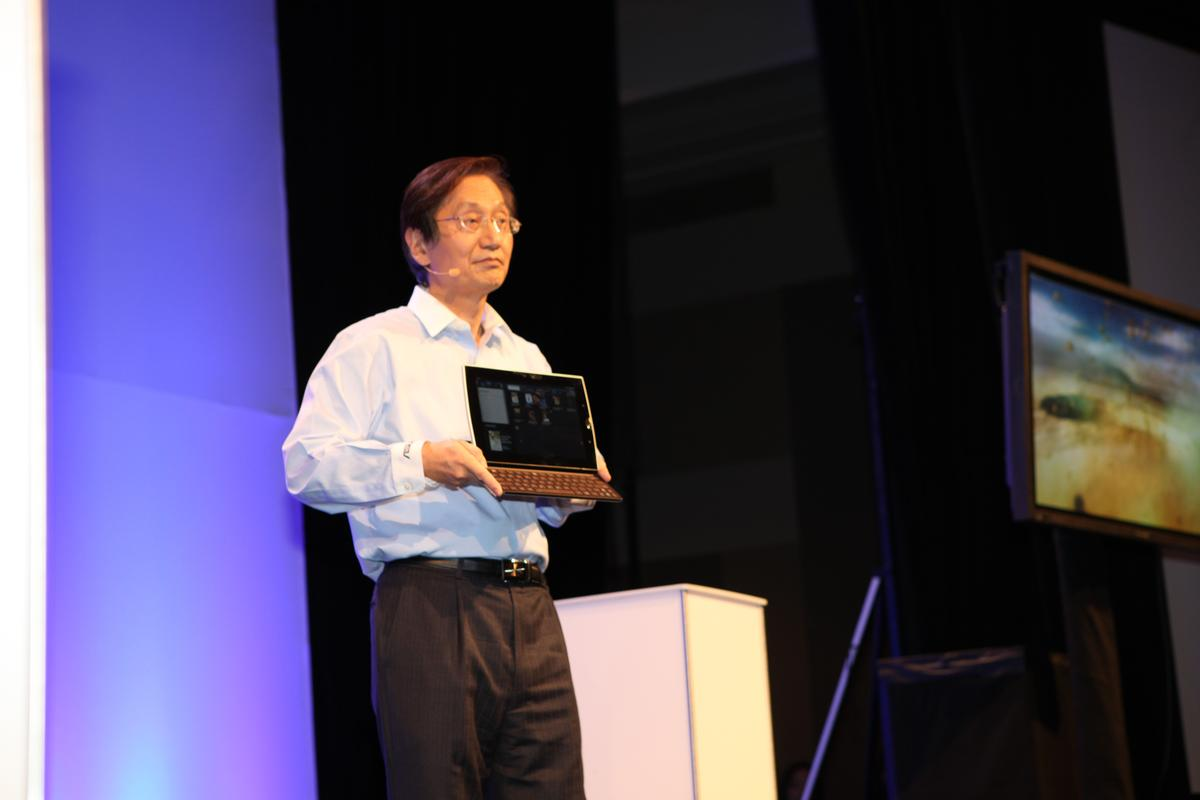 ASUS unveils the Eee Pad Slider amongst its new tablet offerings at CES 2011
