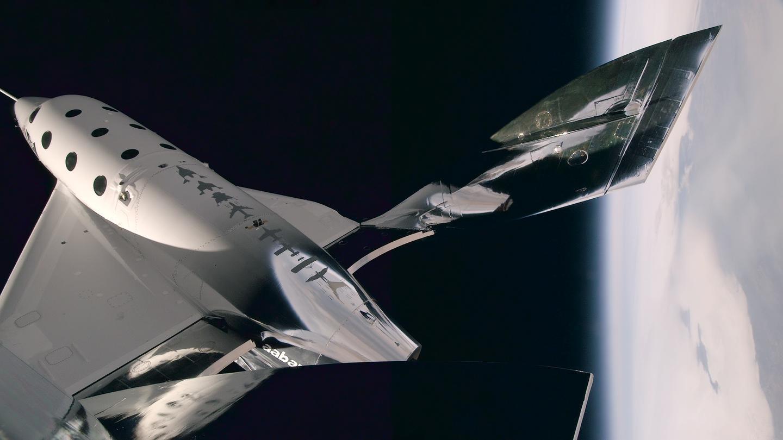 VSS Unity on its third powered flight