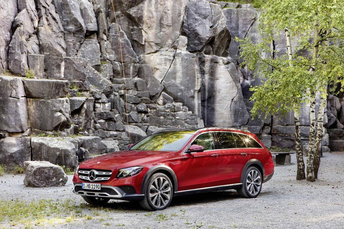 The Mercedes E-ClassAll-Terrain is a tougher, high-riding version of the Estate