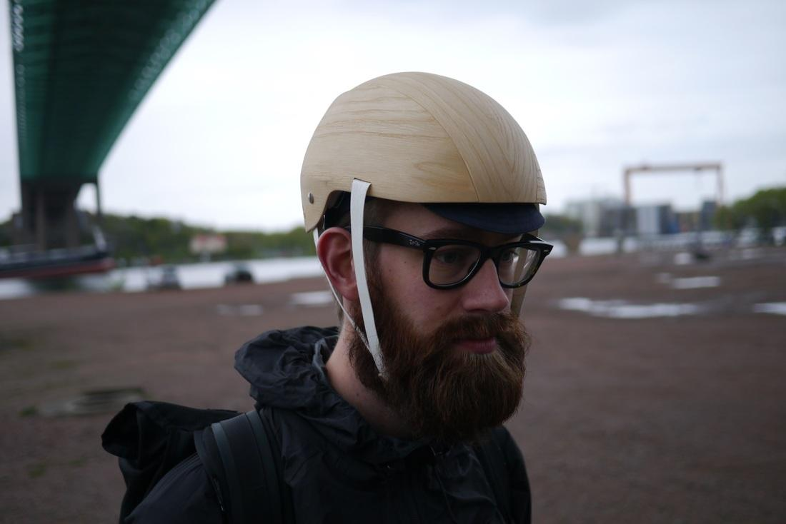 "The helmet was designed by Rasmus Malbert and Jesper Jonsson from design studio Materialist as part of the Ekoportal2035 project, which explores the concept of ""a biobased future"""