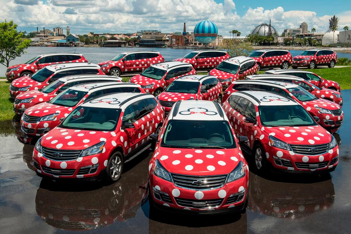 The driver's of Lyft's Minnie Vanswill be dressed as Disney cast members