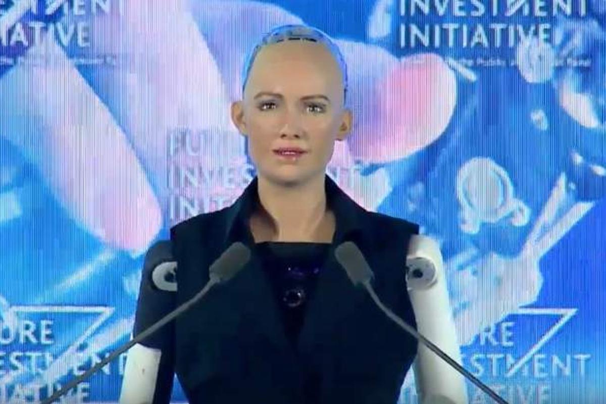 """Sophia, the world's first """"robot citizen"""" suggests we don't take Elon Musk too seriously"""