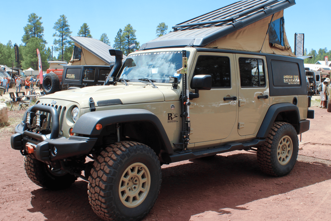 Jeep Wrangler becomes the ultimate pop-up adventure camper