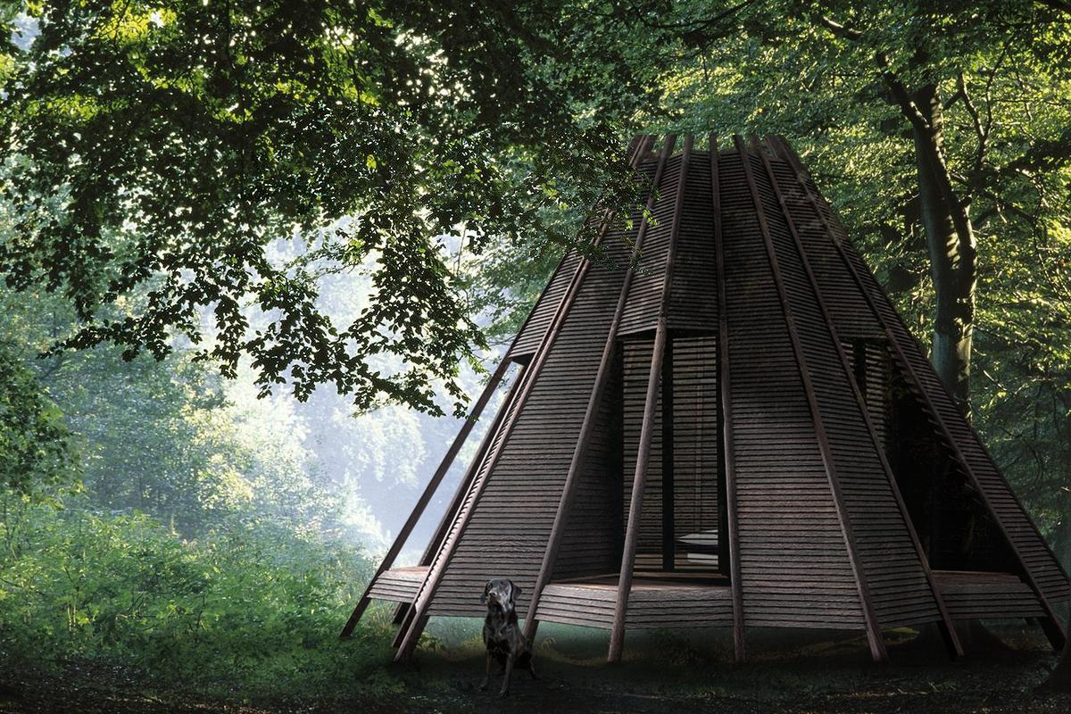 Designer Antony Gibbon drew upon the wigwam for inspiration while designing the Nook