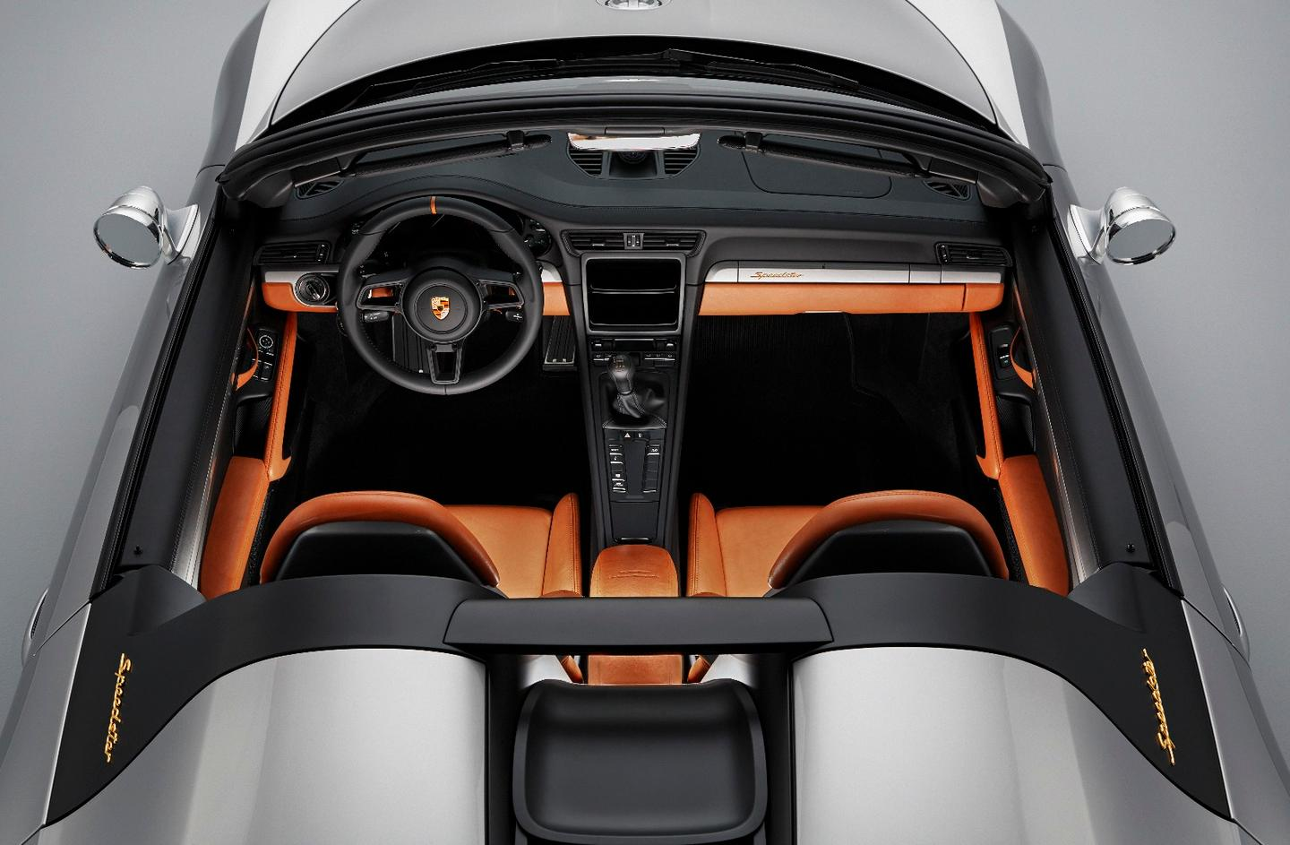 Porsche 911 Speedster Concept: stripped-back cabin has the nav screen, air-con and stereo removed
