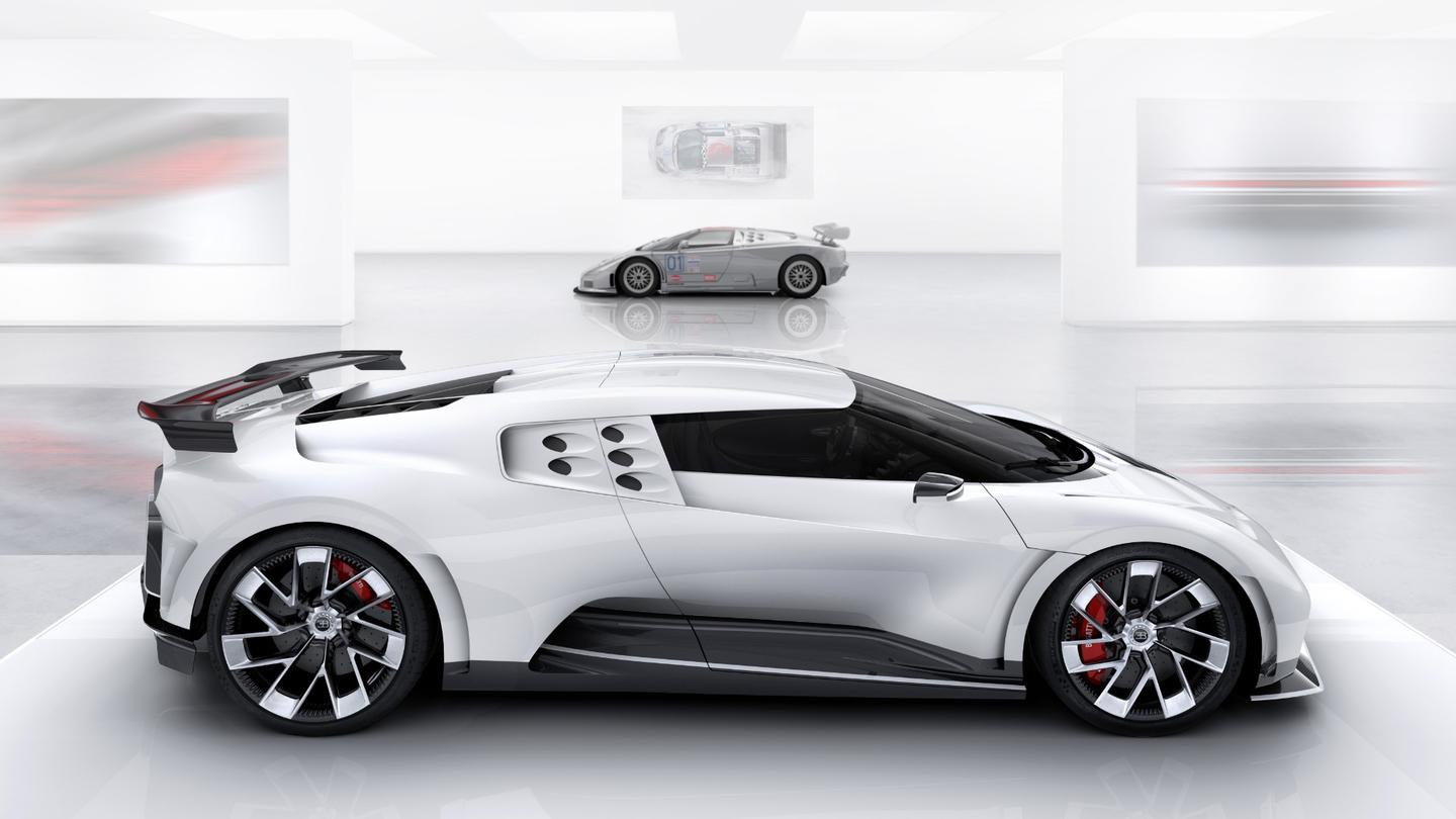Bugatti's  latest hypercar, the Centodieci, is a tribute to the EB110