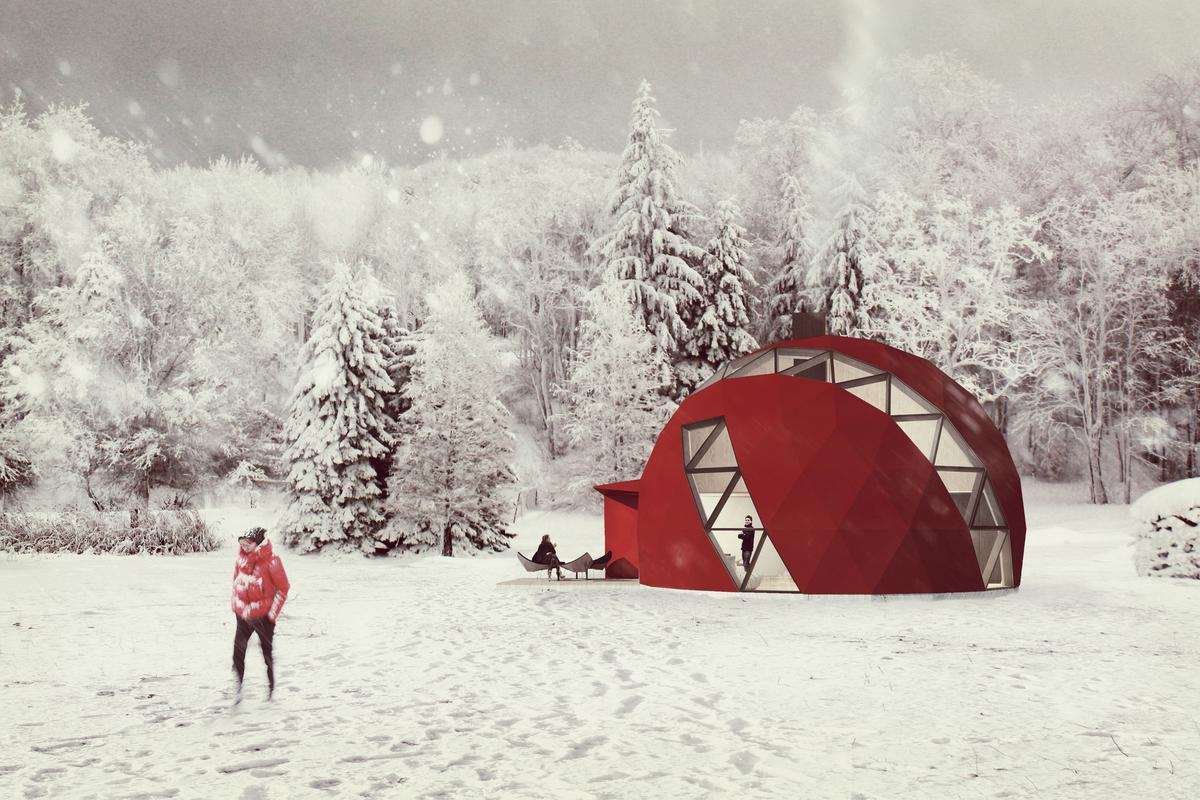 Latvian architectural firm NRJA has revealed its plans to produce an off-the-grid geodesic dome