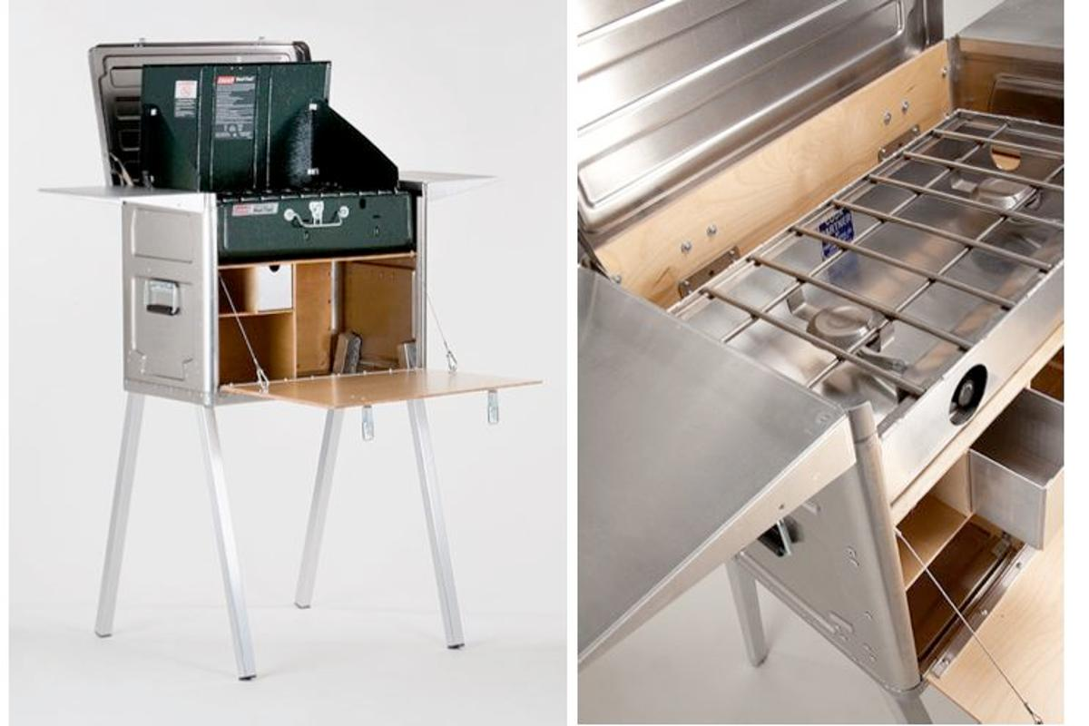 The Field Kitchen is a single unit that combines much of what is needed for cooking on camping trips (Photos: Kanz Outdoors)