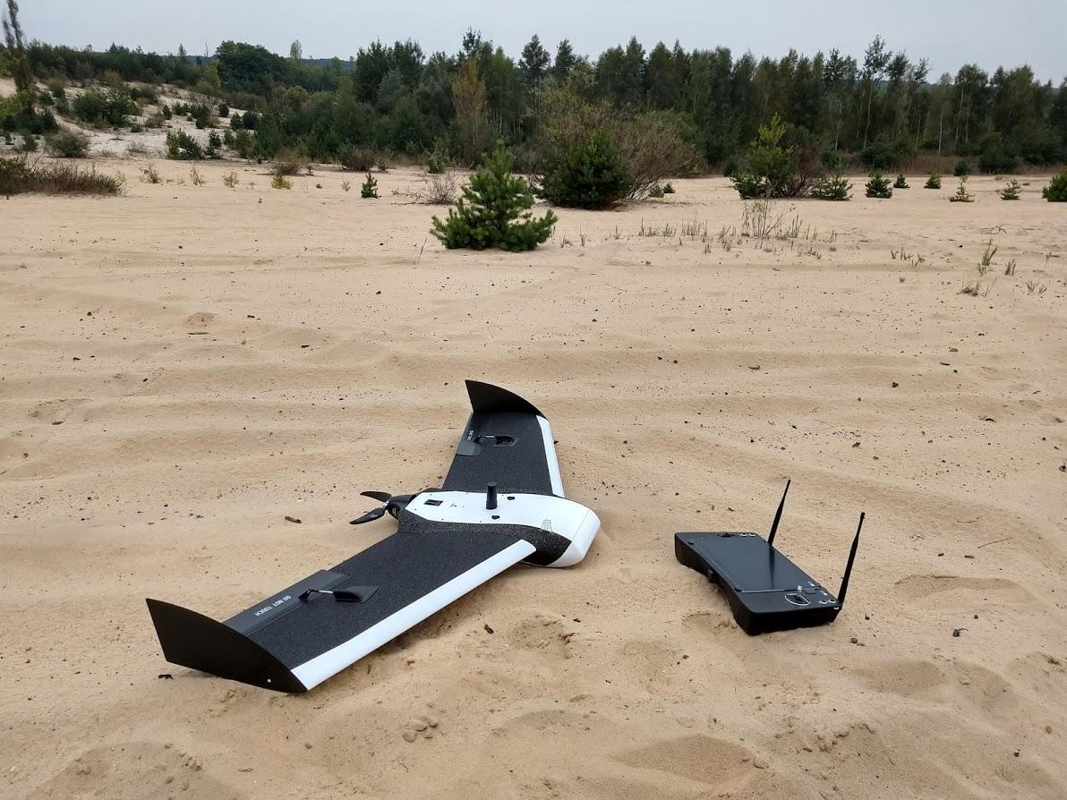 The standard Birdie fixed-wing drone, without the VTOL module