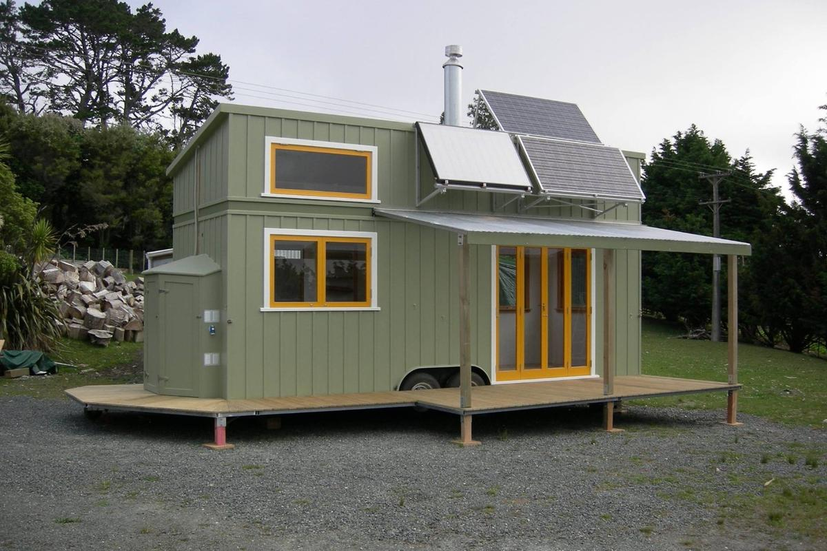 The owner, Briar Hale, paid a total of NZ$130,000 (about US$87,100) for the tiny home built by ex-boat builder and carpenter Jeff Hobbs