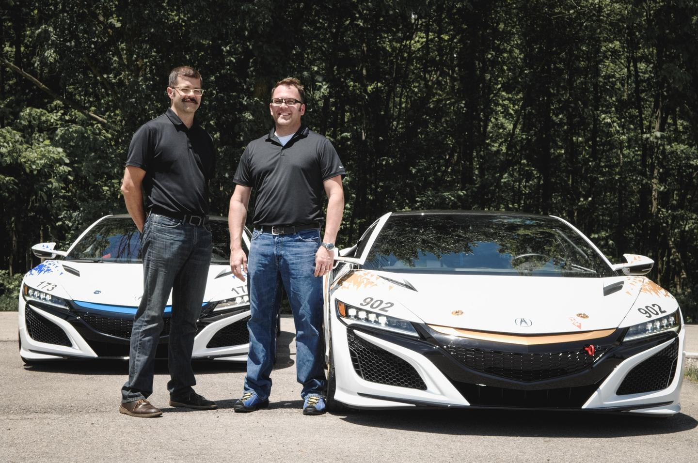 James and Nick Robinson will drive the hybrid NSXs up Pikes Peak