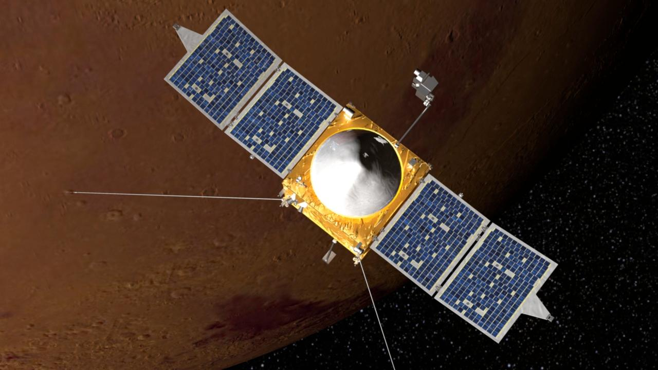The Mars Atmosphere and Volatile EvolutioN (MAVEN) orbiter (Image: NSA)