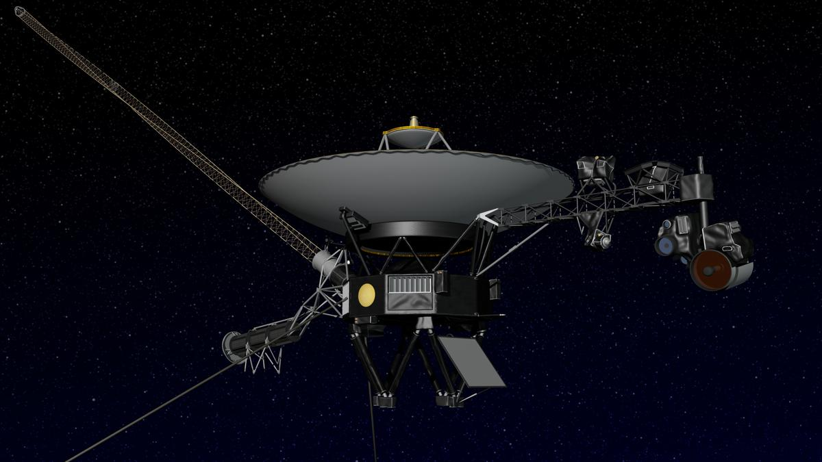 Model of the Voyager spacecraft (Image: NASA)