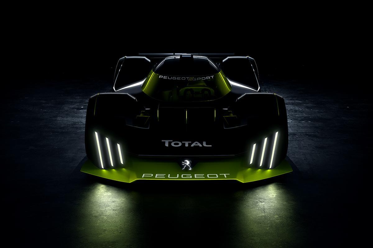A preliminary design sketch for Peugeot's Le Mans Hypercar racer for 2022