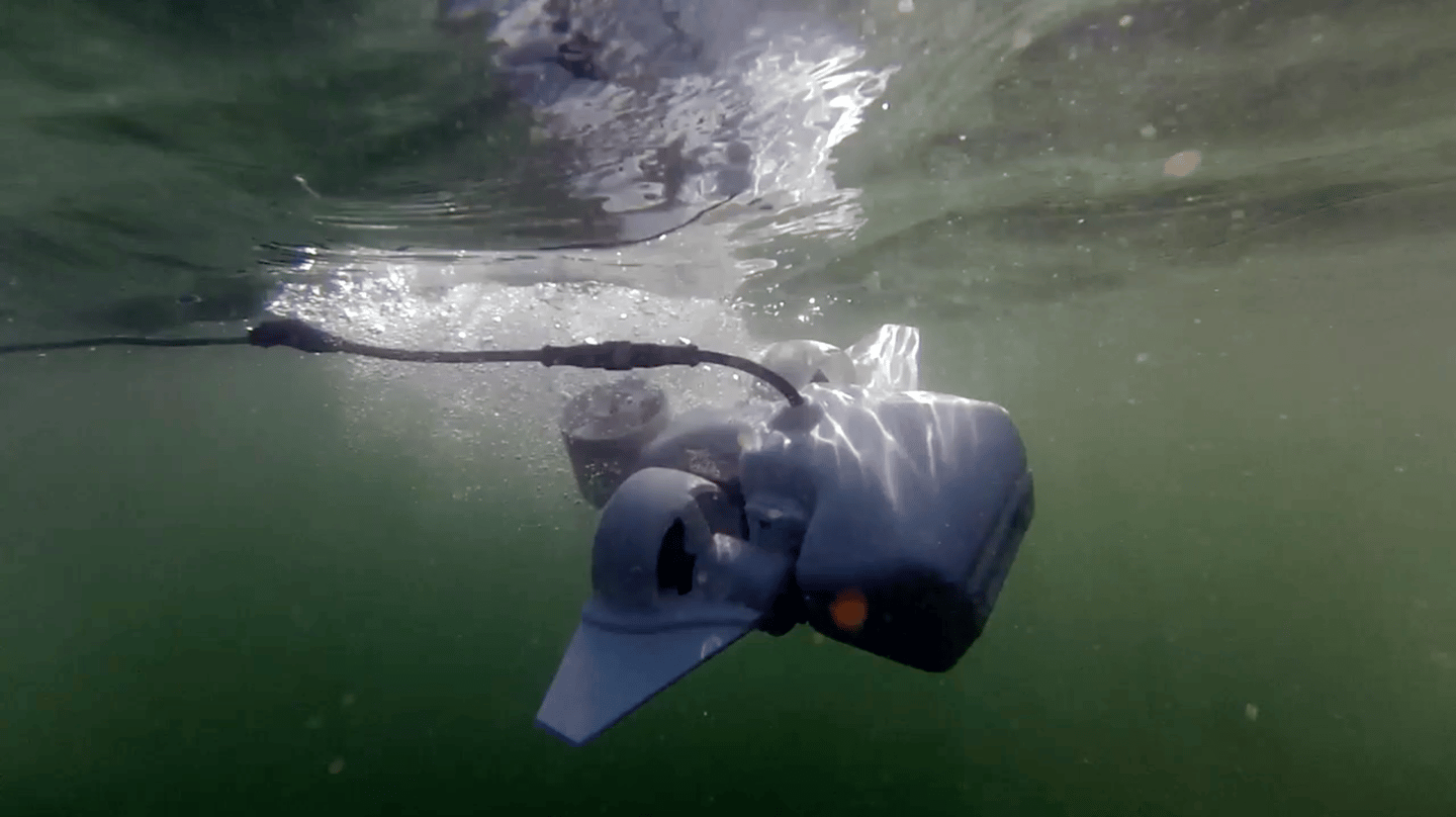 The Fathom One underwater drone works at depths up to 150 feet