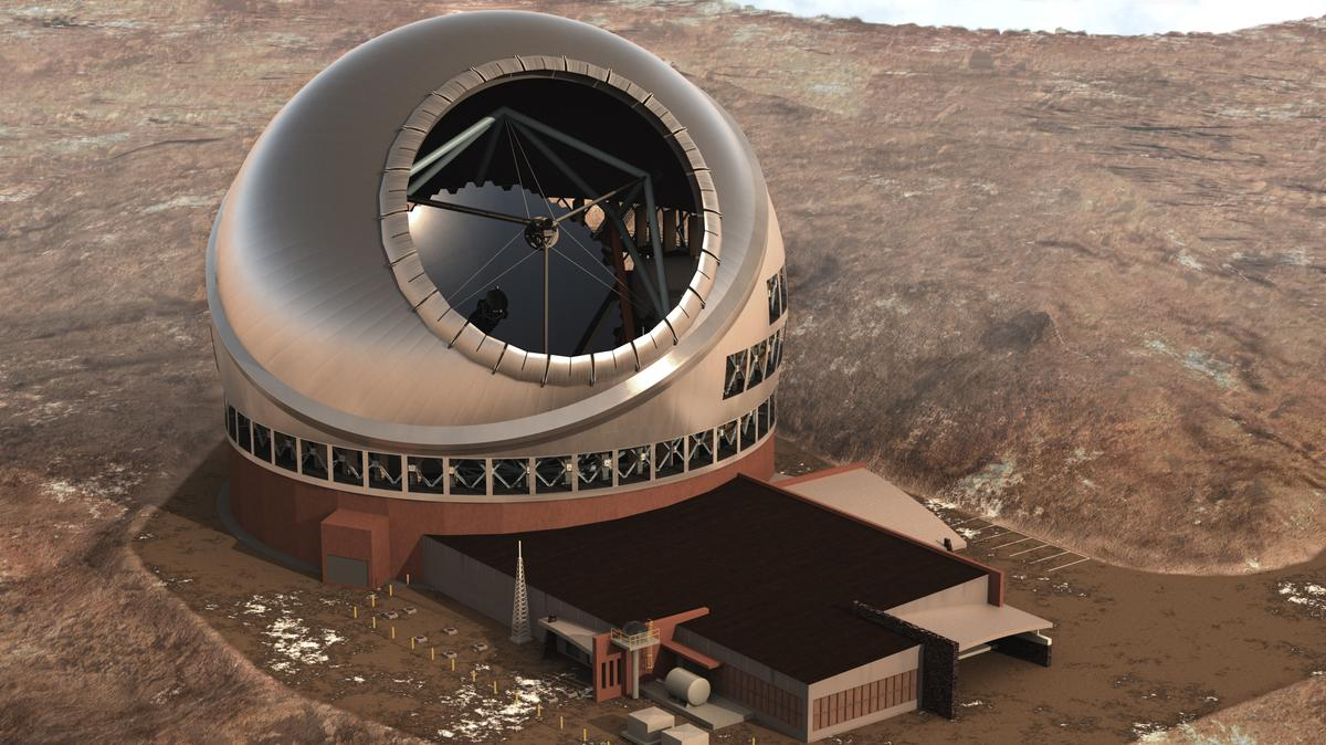 The Thirty-Meter Telescope (TMT) (Image: Courtesy TMT Observatory Corporation)