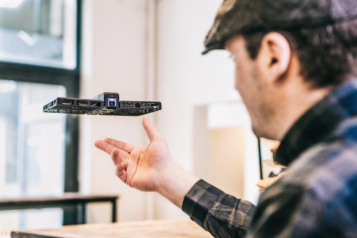 The Hover Camera can simply be released into the air where it will then hover in place automatically