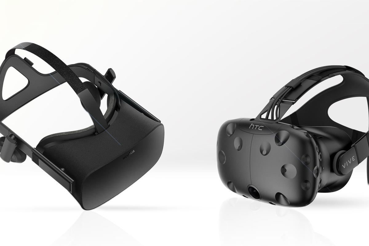 Gizmag compares the features and specs of the Oculus Rift (left) and HTC Vive