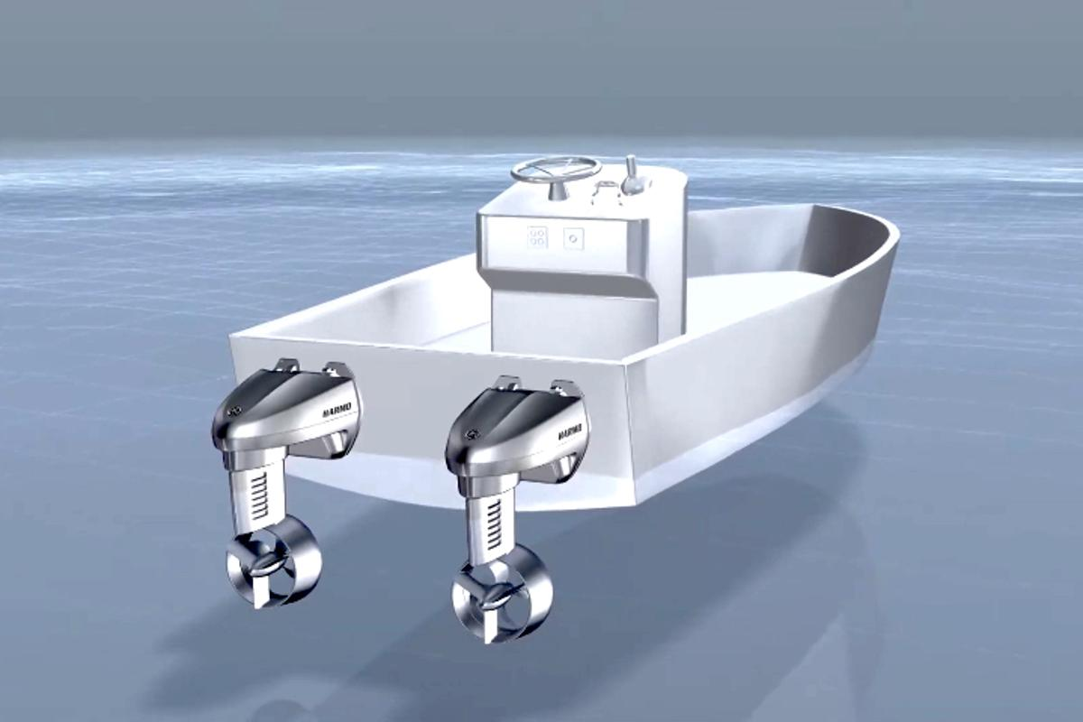 Yamaha states that if two propulsion units are installed, boats can move sideways for docking
