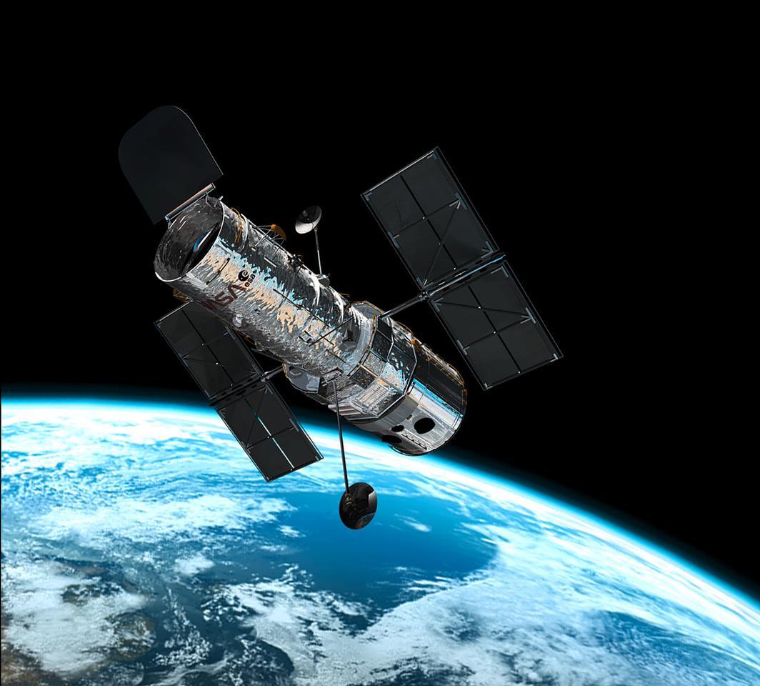 The Hubble space telescope in orbit (Image: NASA/ESA)