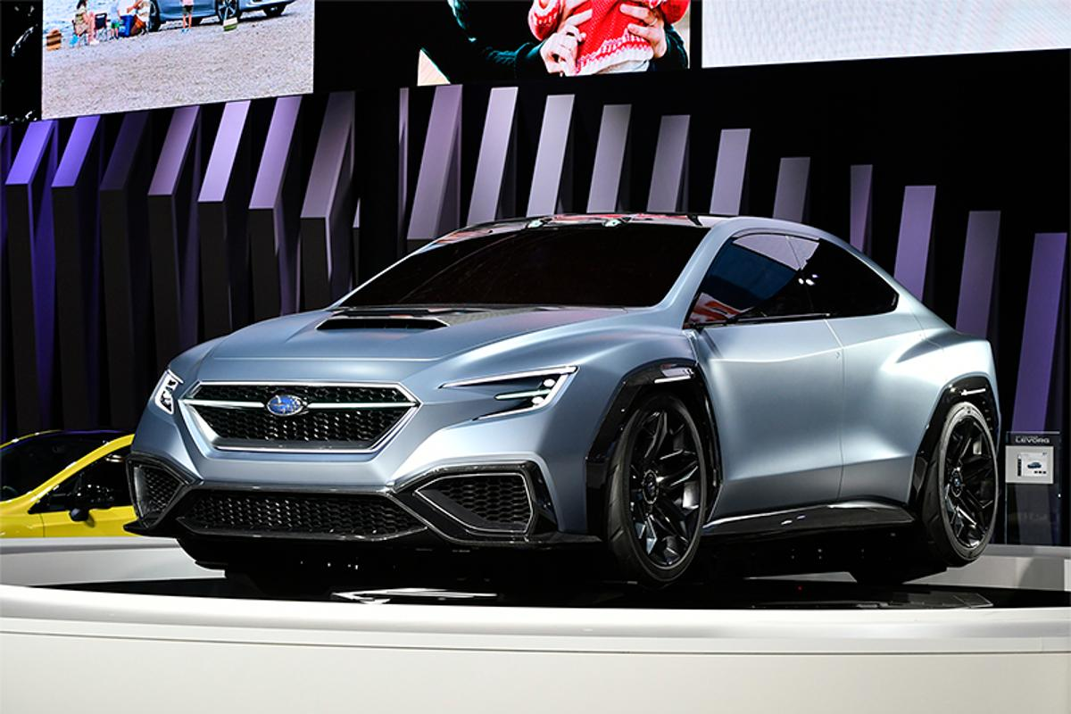 Subaru blends smooth curves and sharp angles to create a unique profile and face
