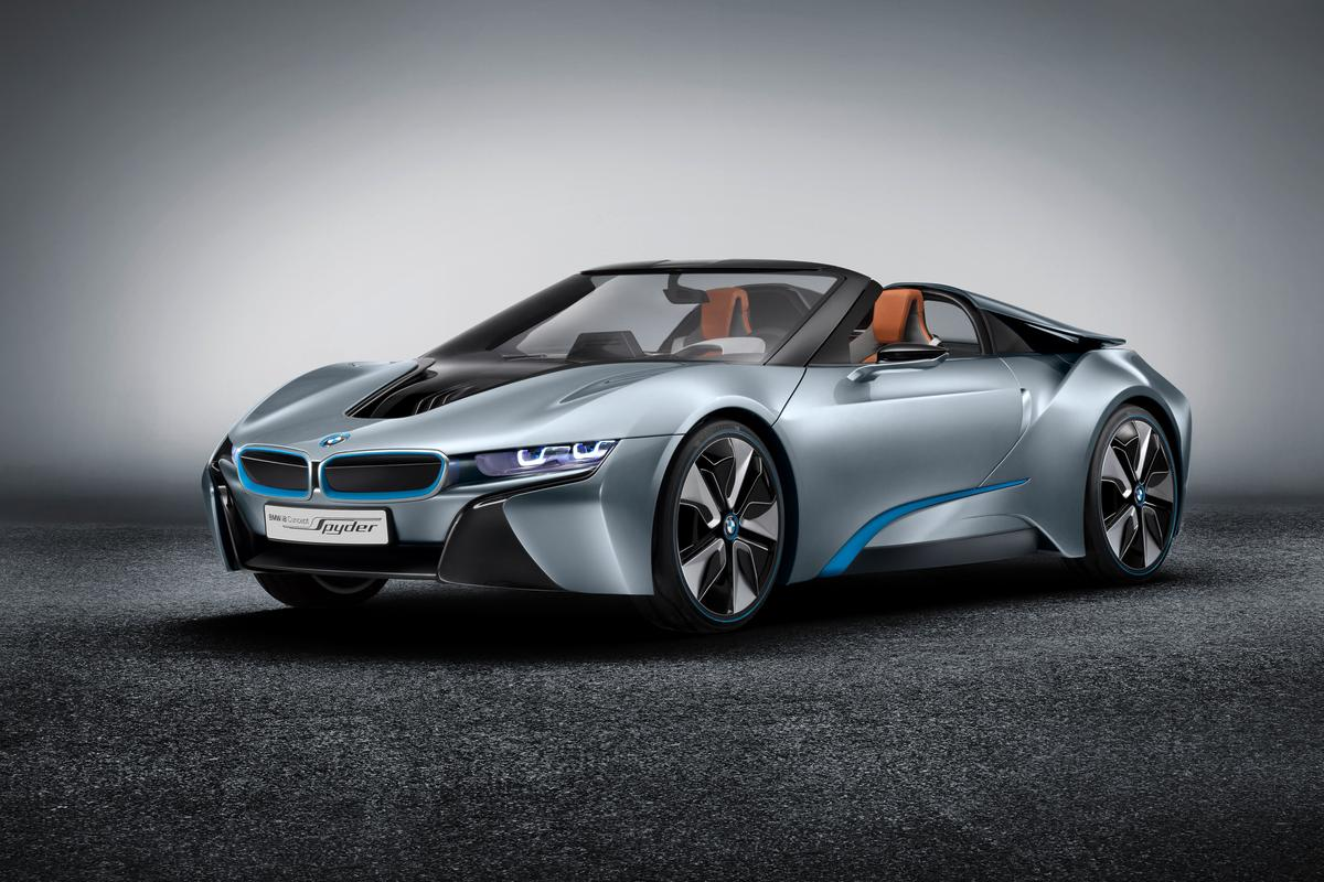 BMW first showed the i8 Spyder Concept in the spring