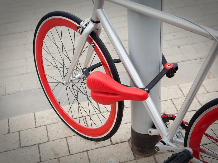 The Seatylock combines a folding lock with a saddle
