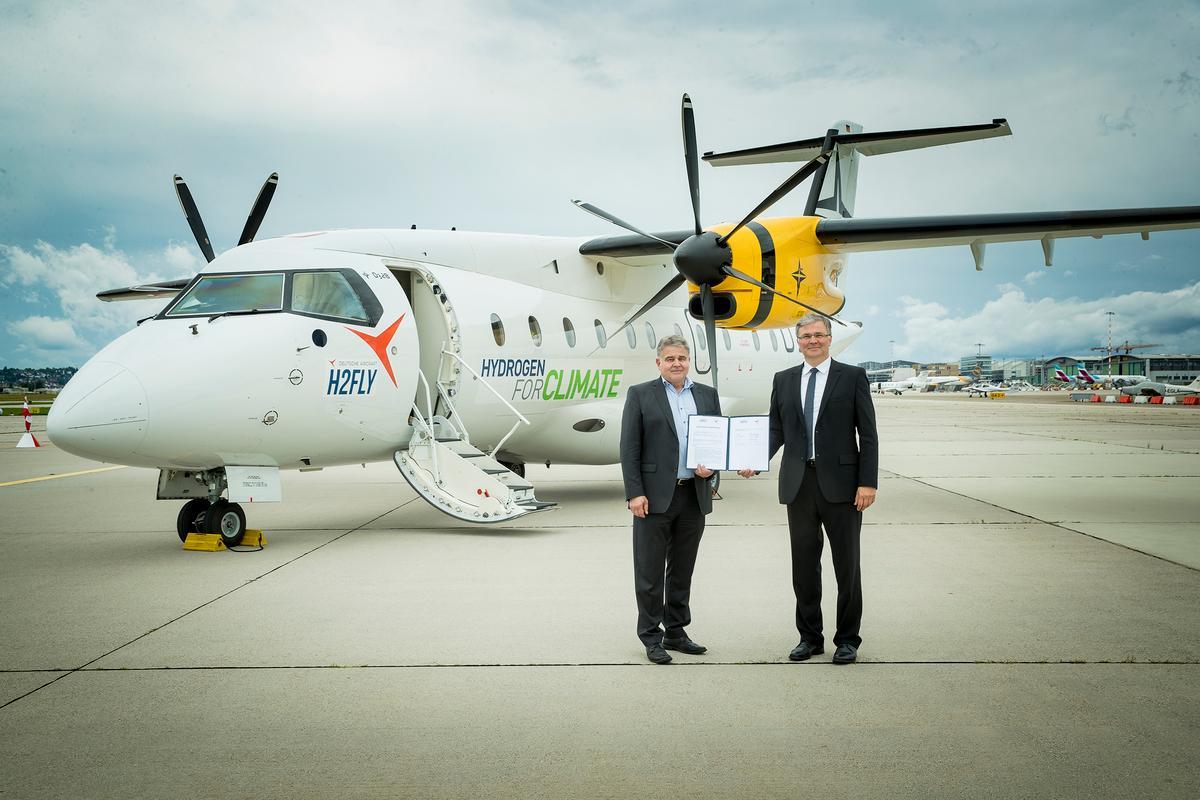 H2Fly и Deutsche Aircraft подписали меморандум о взаимопонимании, чтобы превратить этот Dornier 328 в демонстрационный образец силовой установки на водородных топливных элементах.