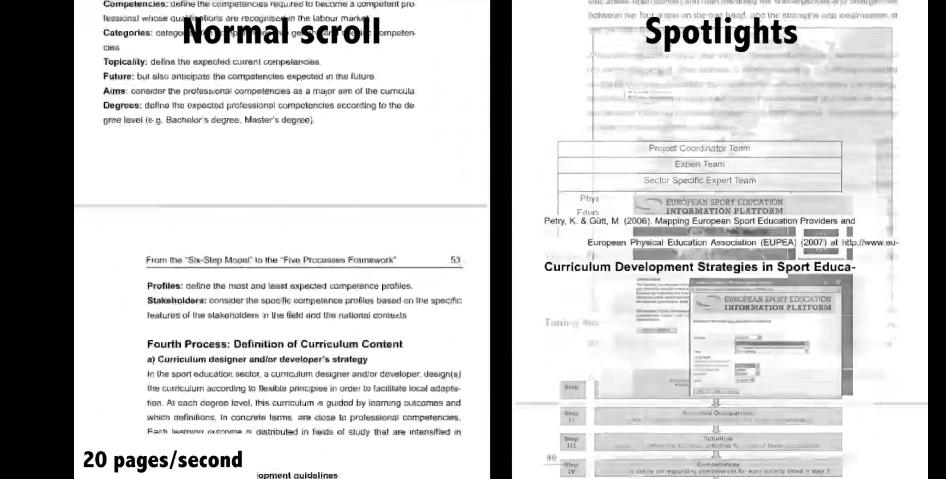 Spotlights puts a spotlight on the important content of digital documents
