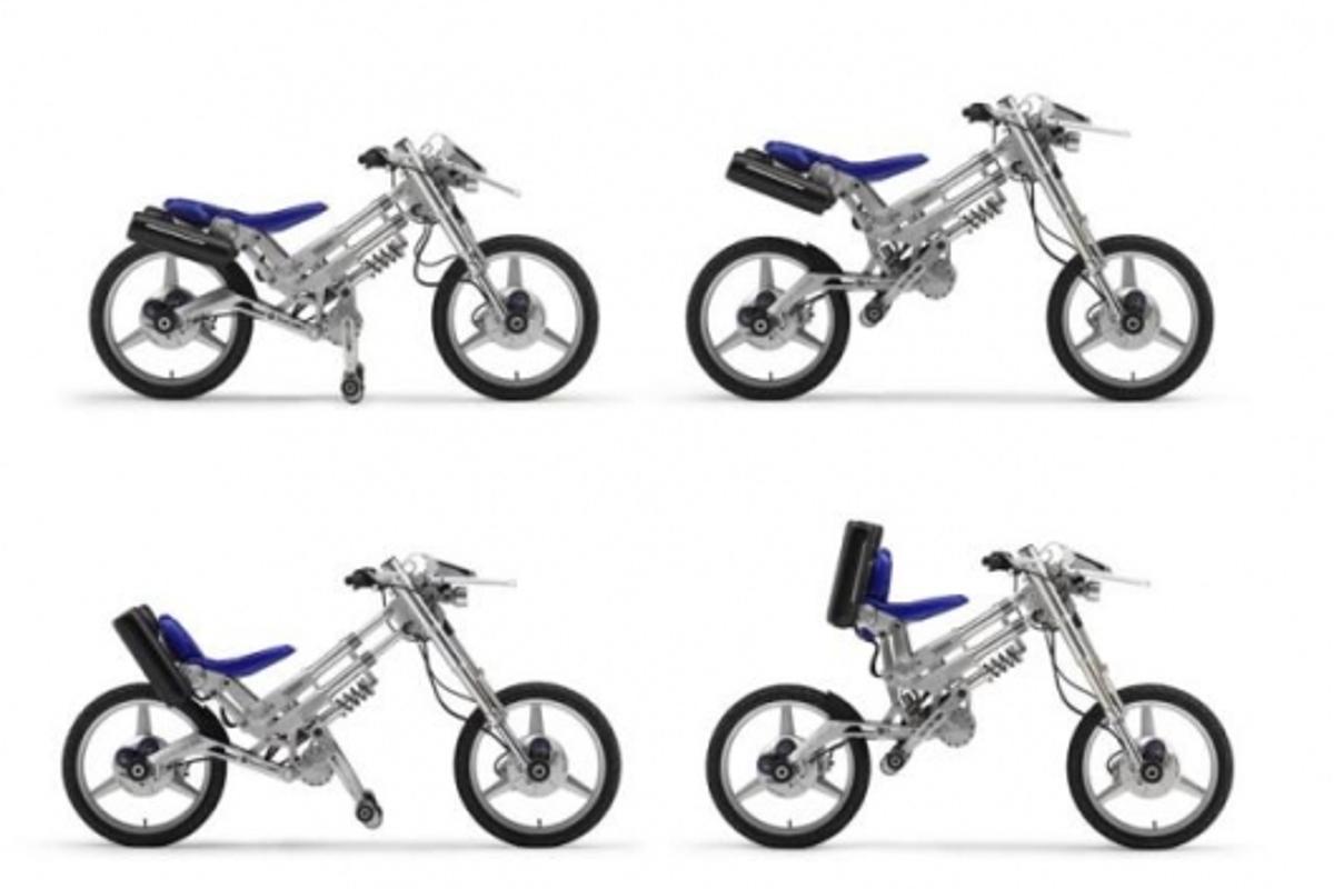 Yamaha's radical adjustable electric motorcycle
