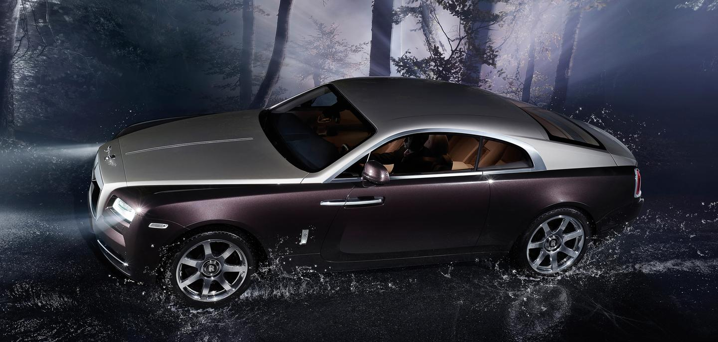 The Rolls Royce Wraith side view