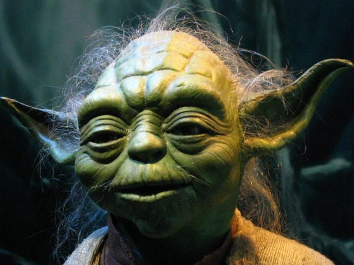 The Yoda puppet, as operated by Frank Oz in The Phantom Menace