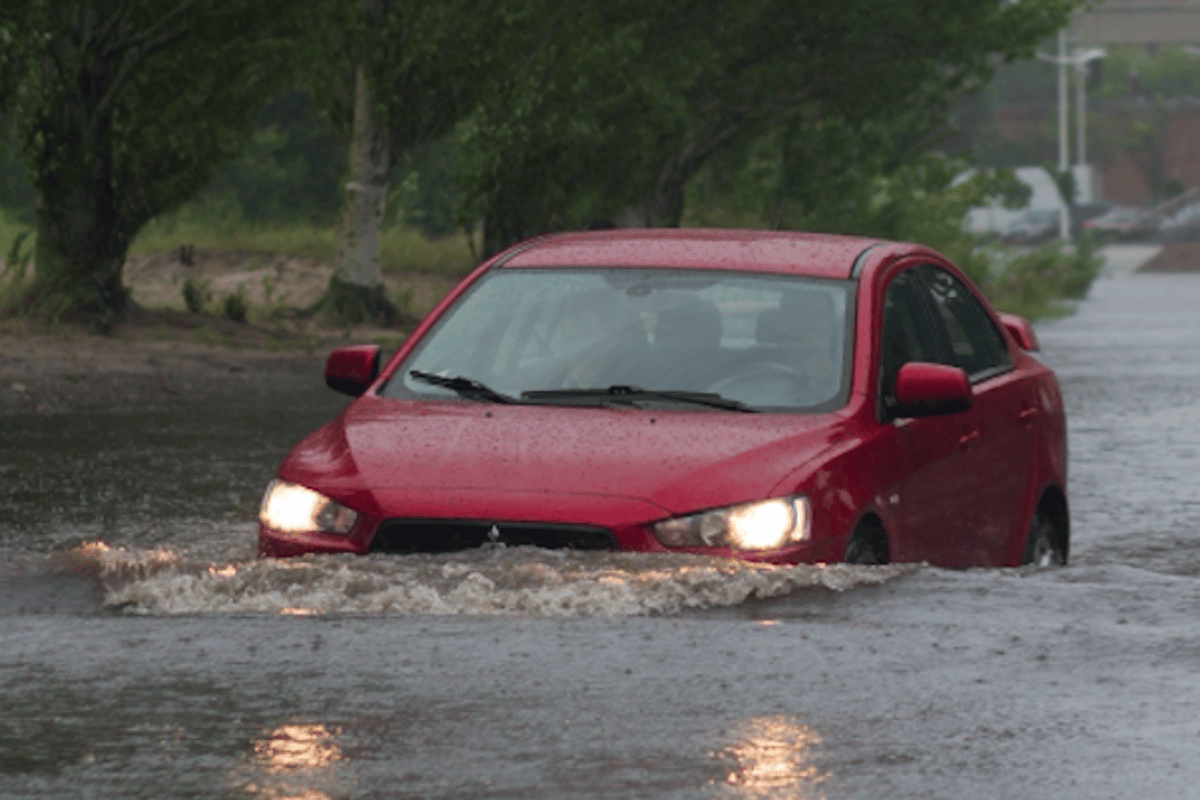 Researchers at the University of NSW say just 15 cm of water can make a car unstable