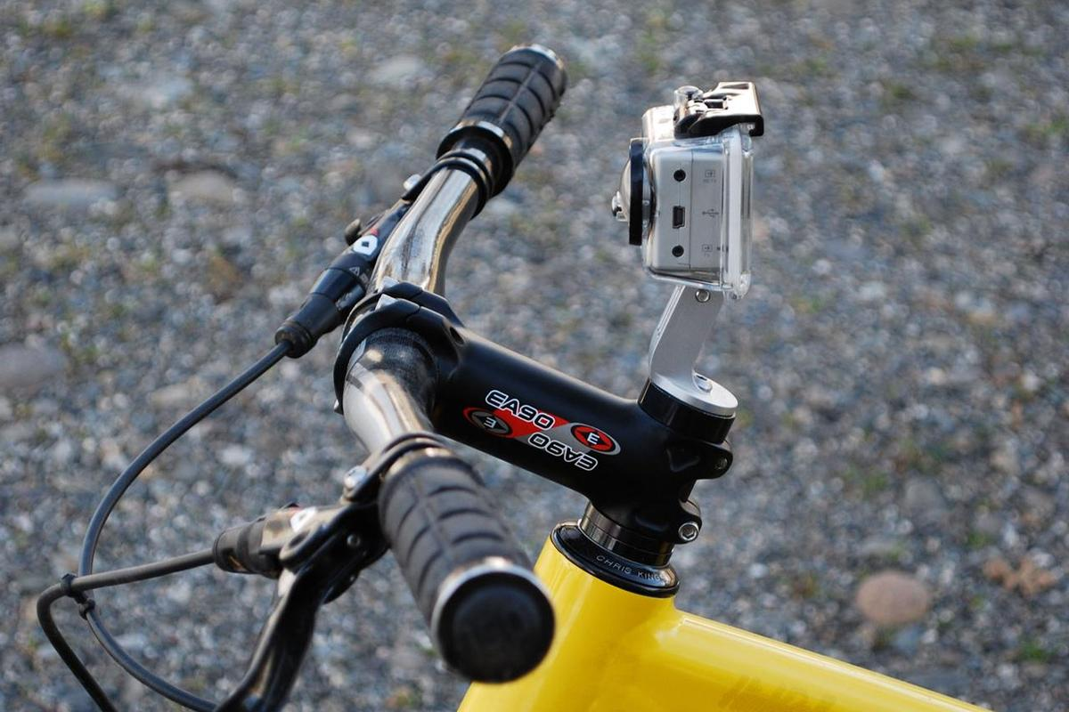 Paul Components is now making a GoPro HERO camera mount that replaces the handlebar stem cap on a mountain bike