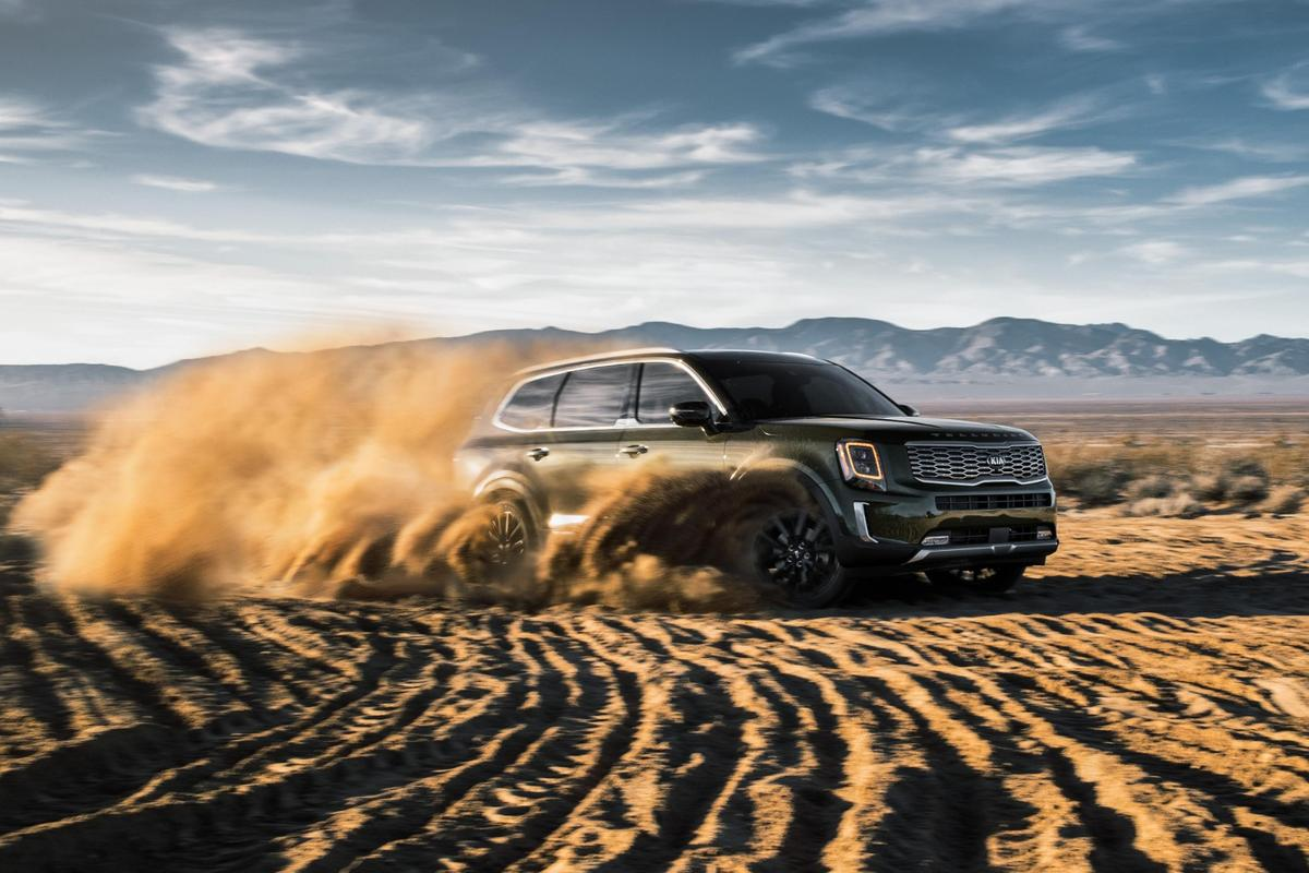 The 2020 Kia Telluride will seat up to eight inside, while competing in the hot midsize three-row segment